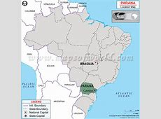 Where is Parana Located in Brazil Map