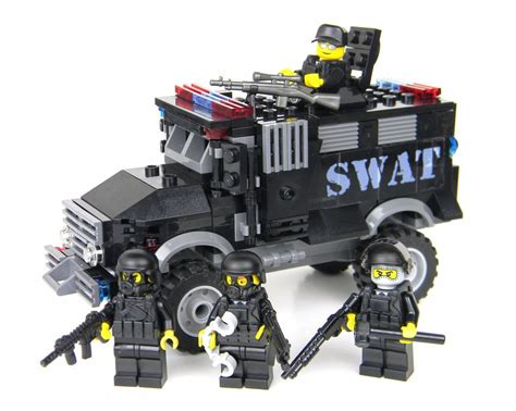 Deluxe Swat Truck Police Vehicle Made With Real Lego