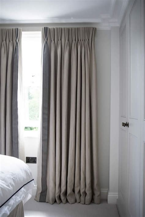 plain linen border curtains search bedroom master
