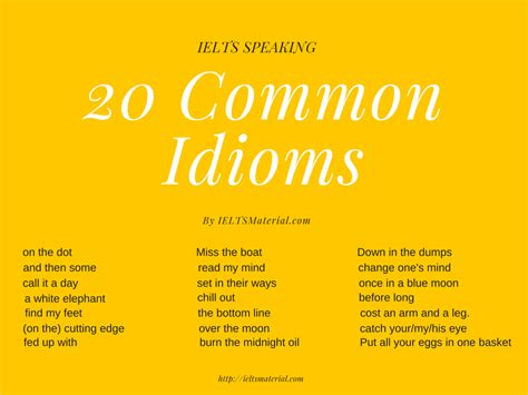 best idioms ieltsmaterial 22 common idioms in ielts speaking