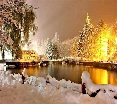 Scenery Winter Nature Wallpapers Background Backgrounds Wallpaperaccess
