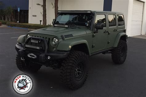 military jeep yj matte army green jeep wrap wrap bullys