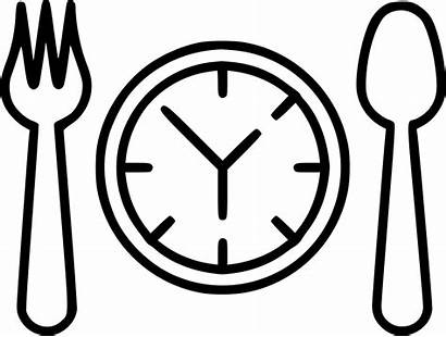 Lunch Icon Dinner Svg Transparent Supper Clipart