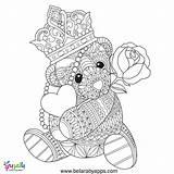 Teddy Bear Coloring Adult Heart Malvorlagen Kleurplaat Erwachsene Liebe Voor Teddybeer Volwassen Mandala Ausmalbilder Summer Hand Liefde Vector Colouring Kleurplaten sketch template