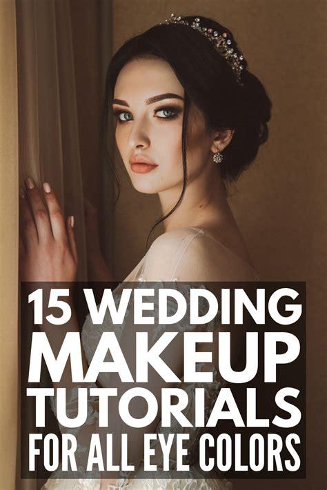classic wedding makeup tutorials   eye colour bridal makeup  blue eyes bridal