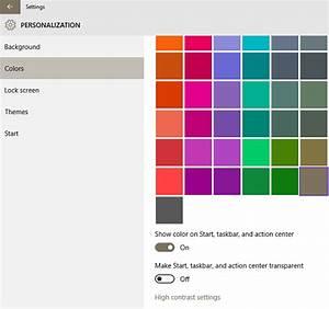 How to add custom color for Windows 10 taskbar