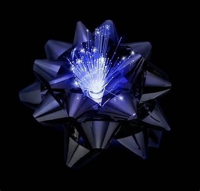 Fiber Gift Optic Glowing Led Bows Bow