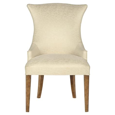 mercer upholstered ivory modern wing chair pair kathy