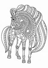 Horse Coloring Horses Pages Printable Patterns Children Adult Justcolor Head Lot Animals Drawings Stylized Above sketch template