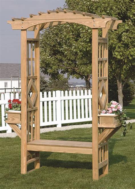 Outdoor Wooden Trellis by Outdoor Wooden Garden Arbor Trellis Arches Bench Amish