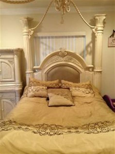 Monte Carlo Canopy Bedroom Set Silver Snow Ebay