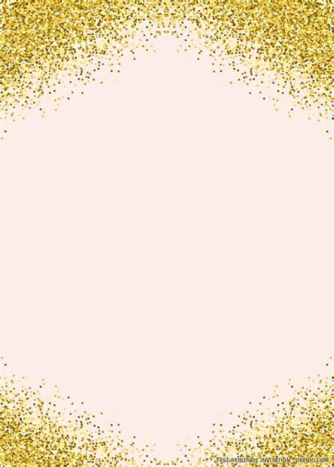 printable pink  gold wedding invitation