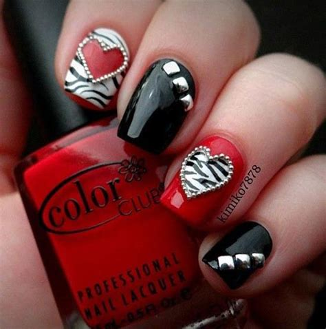 valentines nail designs simply and sweet nail arts for valentines day