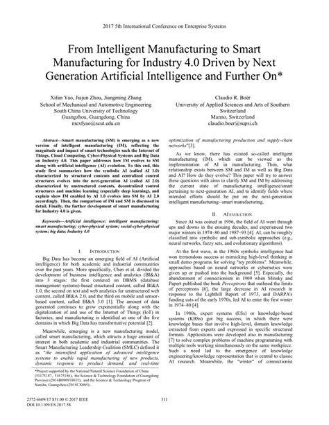 (PDF) From Intelligent Manufacturing to Smart