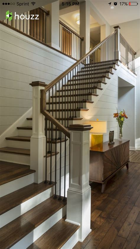 Wooden Banister by 25 Best Ideas About Metal Stair Railing On