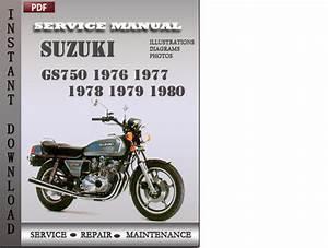Suzuki Gs750 1976 1977 1978 1979 1980 Factory Service
