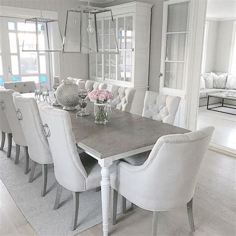 White Dining Room Tables And Chairs Modern With Images Of