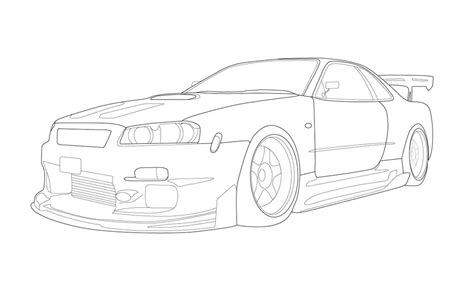 nissan skyline drawing outline nissan skyline gt r by krazykohla on deviantart