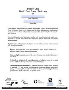 Ohio Medical Power of Attorney Form