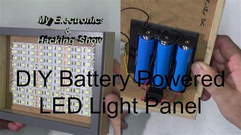 diy battery powered portable led light panel mehs