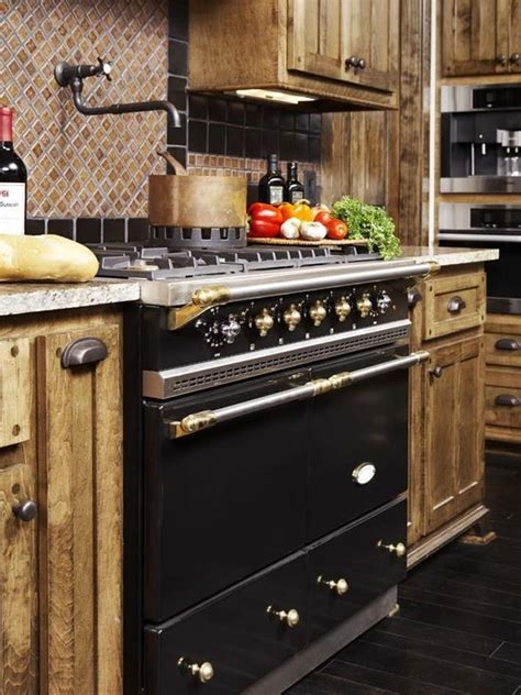 cuisine chagny matte black cluny lacanche range with brass trim a true