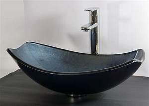Waschbecken Oval Aufsatz : nero badshop aufsatz glas waschbecken blau grau oval ~ A.2002-acura-tl-radio.info Haus und Dekorationen