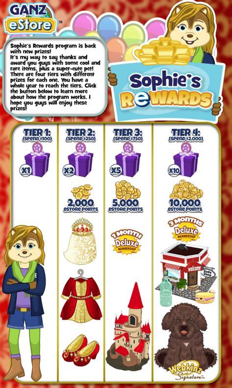 gymbos webkinz blog  sophies rewards