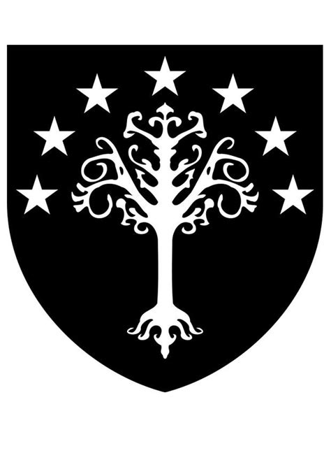 coloring page gondor coat  arms  printable coloring pages img