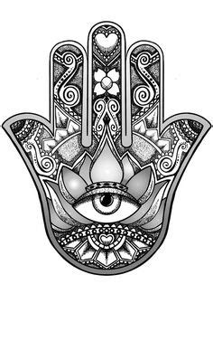 Hamsa Om - Hand Drawn Adult Coloring Page Print | Adult coloring, Hand drawn and Hamsa hand