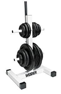 amazoncom weider standard weight plate  bar rack plate storage racks sports outdoors