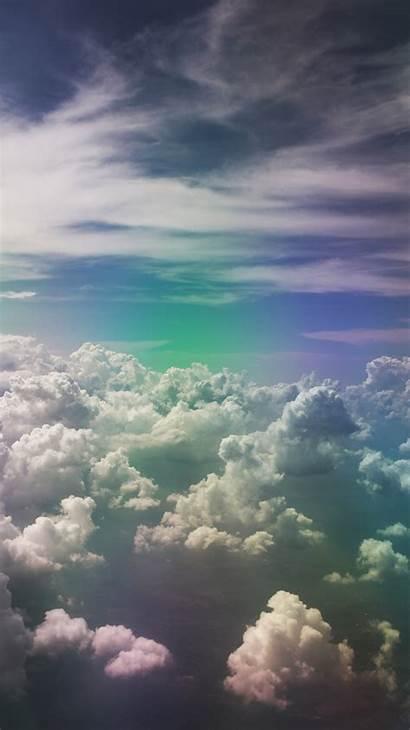 Sky Clouds Rainbow Porous
