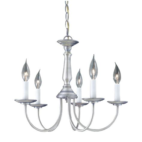 lighting 5 light brushed nickel chandelier sl800378