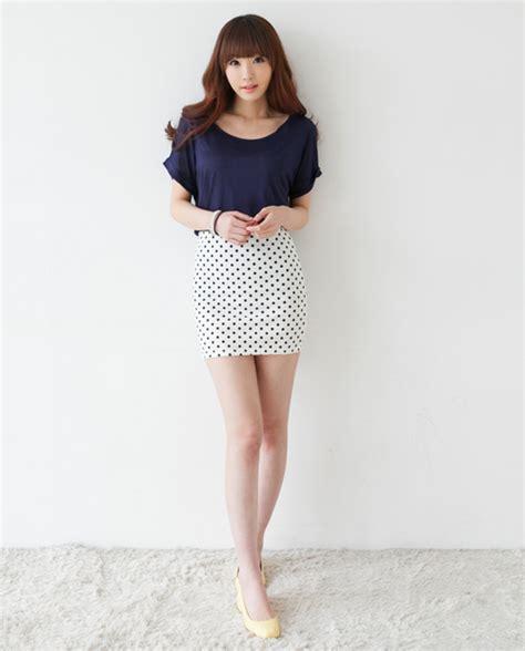 fb dotted mini skirt kstylick latest korean fashion