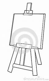 Easel Coloring Cartoon Template Children Illustration sketch template