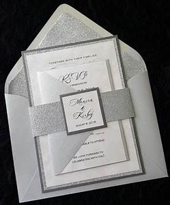 glitter wedding invitation silver glitter wedding With elegant sparkly wedding invitations