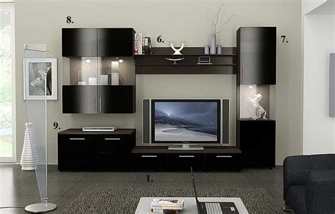 woodwork tv stand wall design  plans