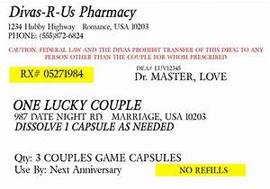 prescription for fun a free printable romance idea With fake medication labels