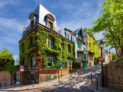 Charming Streets Of Montmartre Hill Paris Jigsaw Puzzle