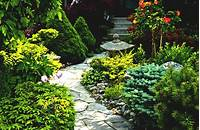 great patio design ideas for small gardens Wonderful Simple Front Garden Ideas With Green Grass And ...