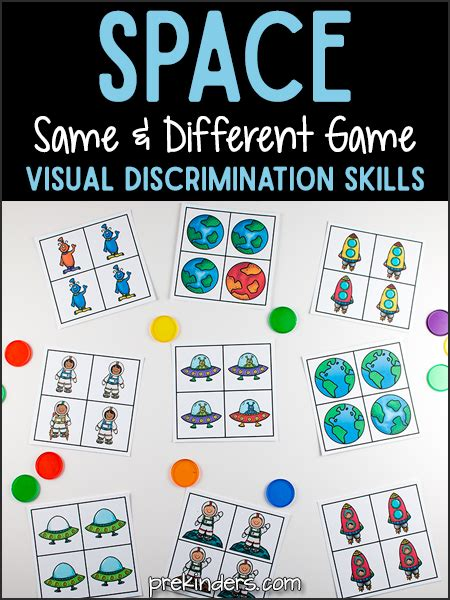 pre k visual discrimination printables prekinders 530 | space same different