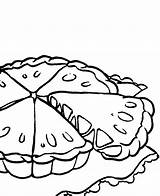 Pie Coloring Apple Pages Pumpkin Cake Drawing Pies Cliparts Simple Colouring Template Getcolorings Printable Sketch sketch template