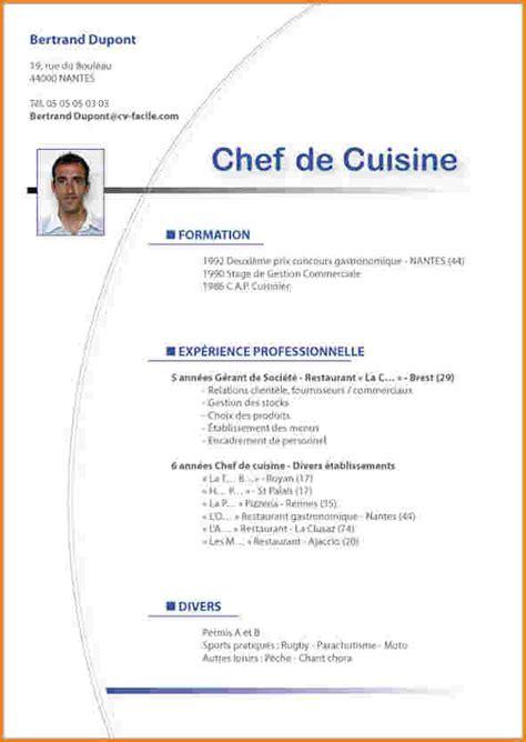 lettre de motivation chef de cuisine 9 exemple de curriculum vitae lettre de demission
