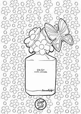 Coloring Coloriage Adult Mademoiselle Stef Parfum Dessin Paris Couture Sheets Zentangle Visit Mode Perfume sketch template