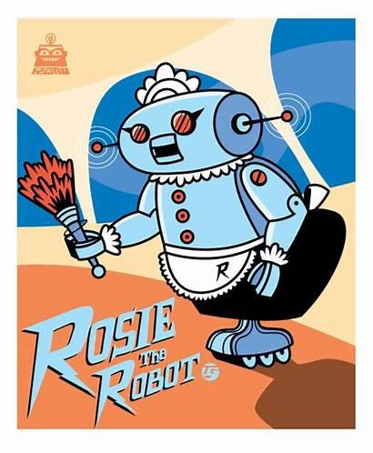Jetsons Robot Rosie Maid Jetson Cartoon Robots