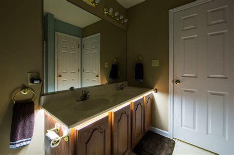 led bathroom vanity  counter lighting traditional