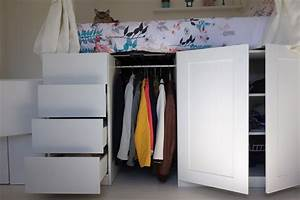 Lit Mezzanine Dressing : lit mezzanine dressing avec diy un lit dressing gain de ~ Premium-room.com Idées de Décoration