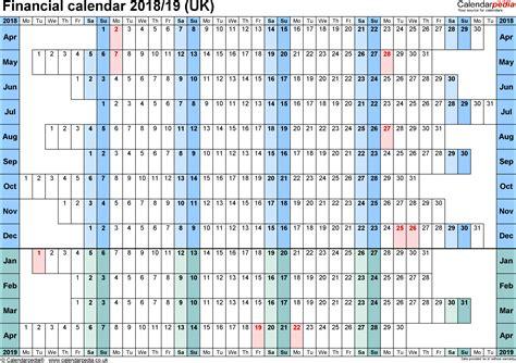 financial calendars uk microsoft excel format