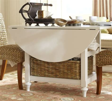 Shayne Drop Leaf Kitchen Table, White   Pottery Barn
