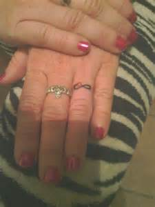 Heart and Infinity Tattoo Wedding Ring
