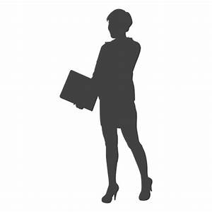 Businesswoman silhouette carrying files - Transparent PNG ...